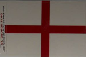 England Large Country Flag Rectangular Decal.